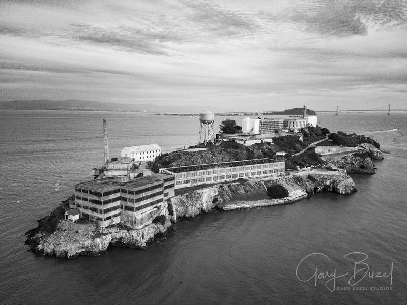 Aerial View of Alcatraz Island (northside)