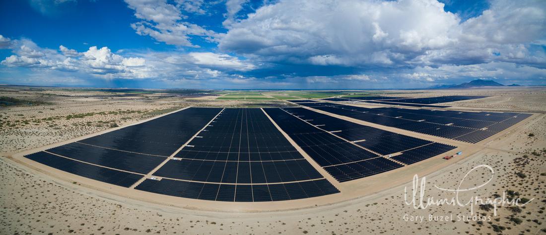 Desert Solar Panel Farm