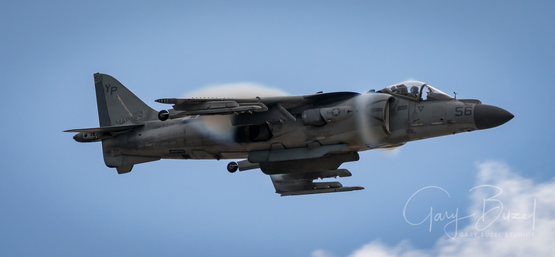 Harrier High Sped Past